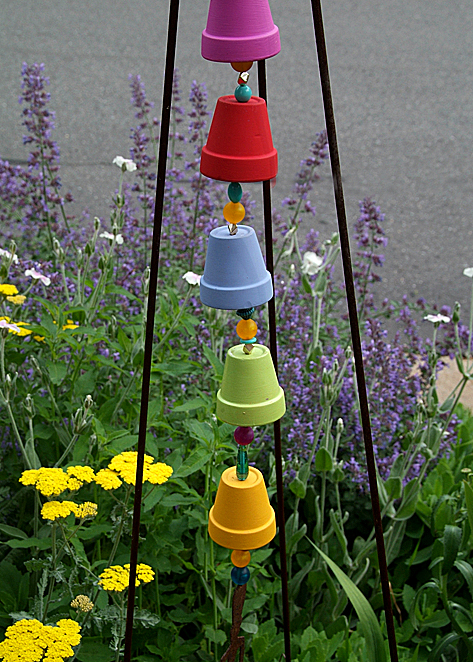 Garden art garden muse for Easy to make wind chimes
