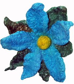 bluefeltflower