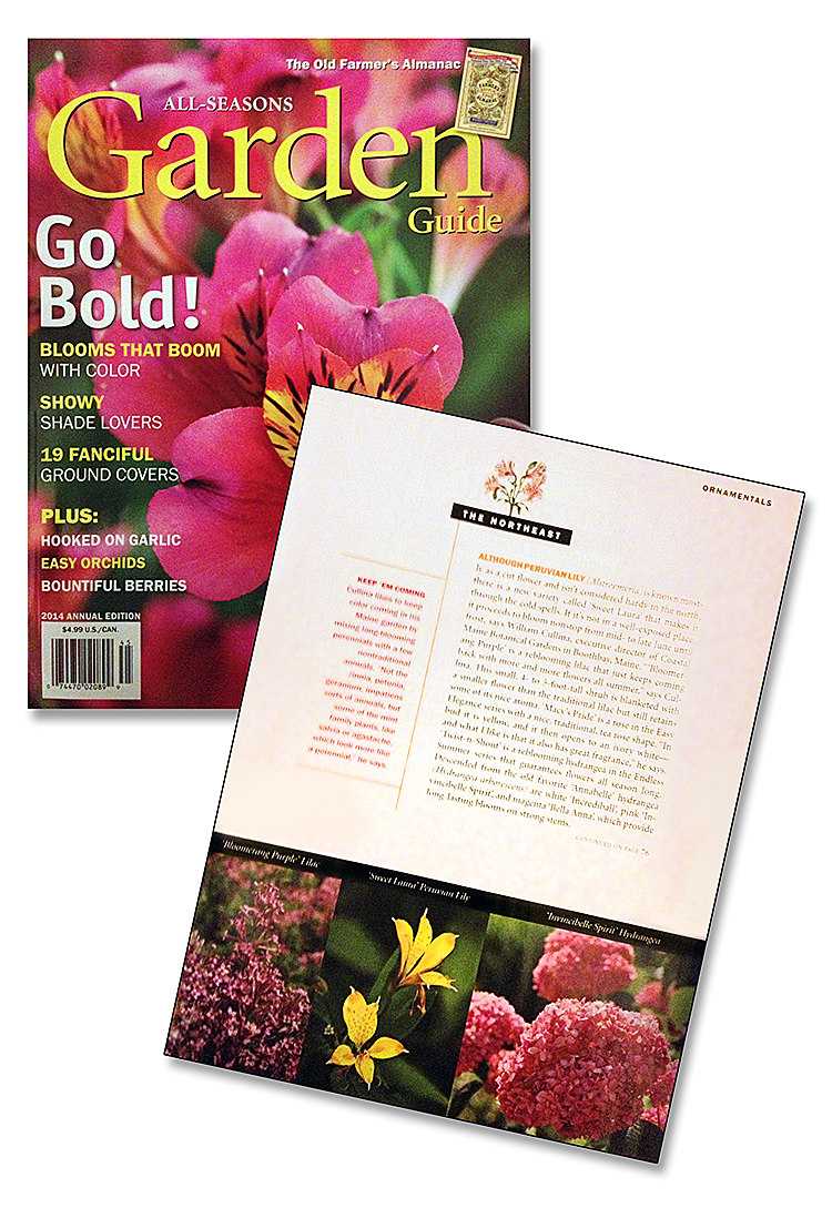 Published: The Old Farmer's Almanac 2014 All-Seasons Garden Guide
