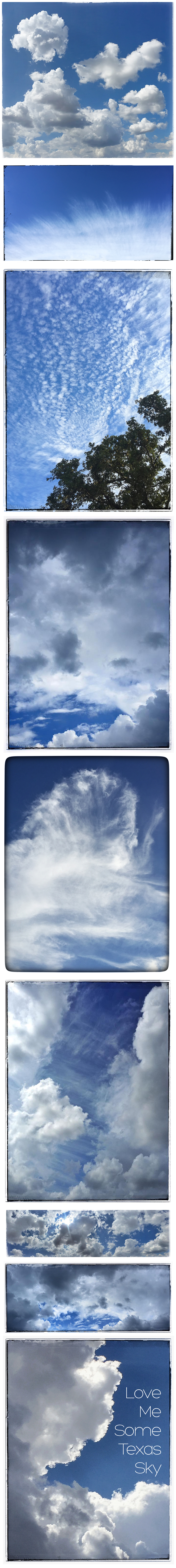 Texas Sky Collage