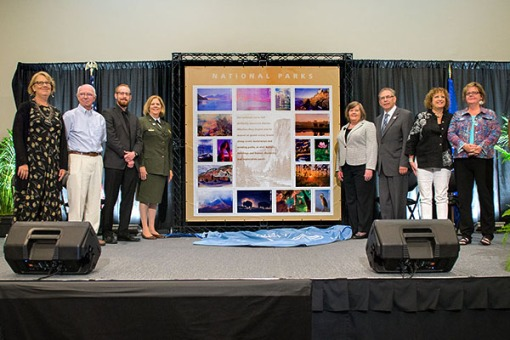Postmaster General Dedicates National Parks Stamps:Special Dedication Ceremonies at 14 Locations Including Simultaneous Live Webcast from MD/VA Assateague Island National Seashore.